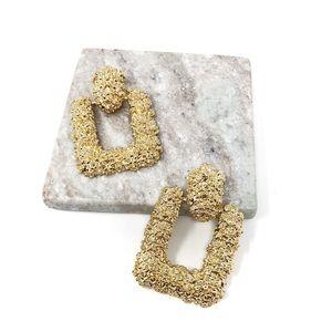 4/$25 • Zara Gold Textured Earrings